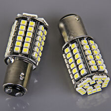 2x Super Bright 80SMD BAY15D 1157 Xenon White Tail Stop Brake Light LED Bulb 12v
