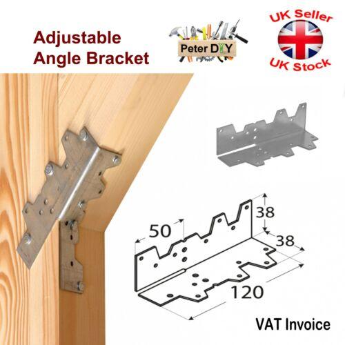 FOLDED ANGLE BRACKET Connector Brace ADJUSTABLE ANGLE 38 x 150 x 1.5 mm
