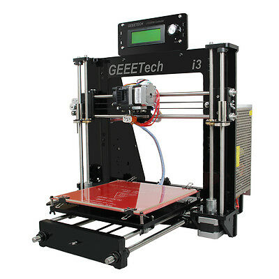 Geeetech Black Acrylic Frame Prusa Mendel I3 kit All Metal Parts GT2560 LCD2004