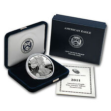 2011-W 1 oz Proof Silver American Eagle Coin - Box and Certificate - SKU #63303
