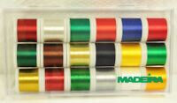Madeira 18 Spool Christmas Collection Madeira Rayon Thread 8040cc