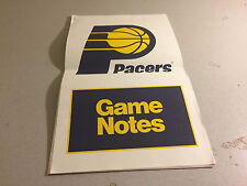 Indiana Pacers Game Notes vs Miami Heat NBA November 23, 1991