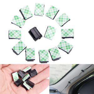 10 Car Drop Adhesive Clamp Wire Cord Clip Cable Holder Tie Clips Organizer S Fp