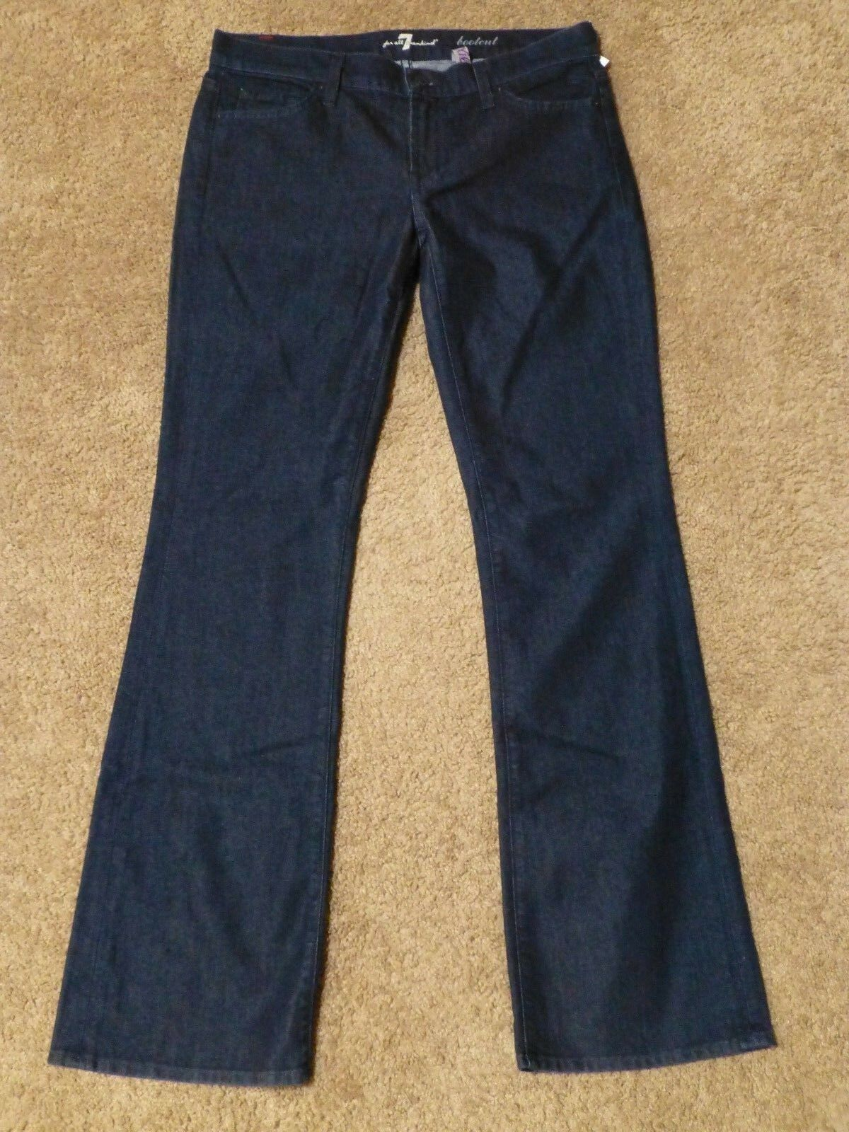 (29) NWOT 7 For All Mankind LEXIE BOOTCUT PETITE IN PORTUGAL Dark Wash Sz 29