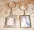 2-lot picture metal keyrings new