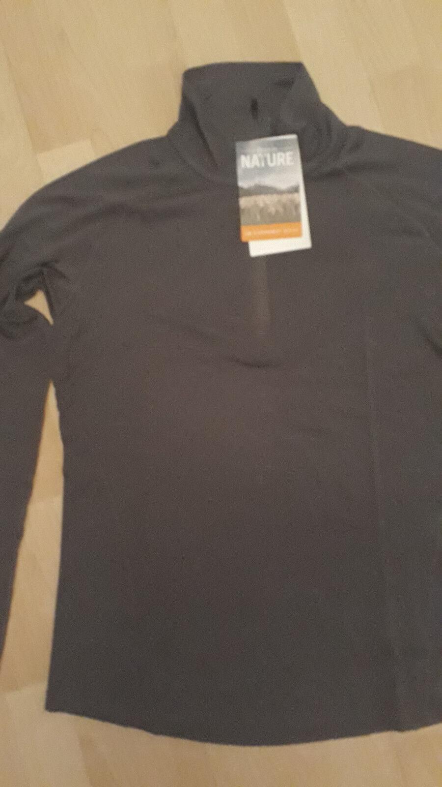 NEU Icebreaker Zeal LS Half Zip Shirt Damens  Metall Gr. L in grau/ Metall  013e3b