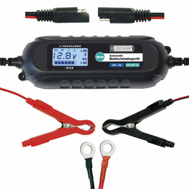 LODCHAMP 6V/12V-4A Intelligentes Batterieladegerät 12V KFZ Erhaltungsladegerät