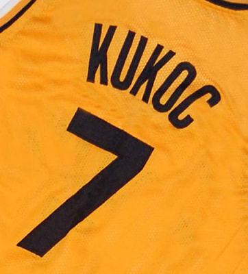 TONI KUKOC #7 JUGOPLASTIKA YUGOSLAVIA CROATIA JERSEY Yellow NEW SEWN ANY SIZE