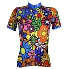 Women Cycling Bike Short Sleeve Jersey Girl Bicycle Summer Wear Colorful Flower