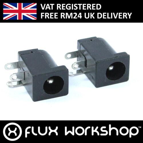 2 x 5.5 x 2.1mm female jack dc arduino pcb shield flux workshop
