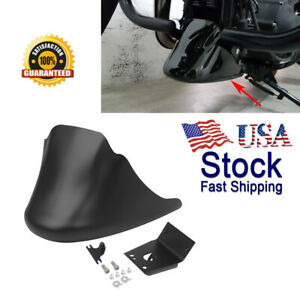 Matte Black 1X Front Spoiler Chin Fairing Cover Mounting Bracket Compatible with 2004-2014 Harley Sportster XL883 XL1200