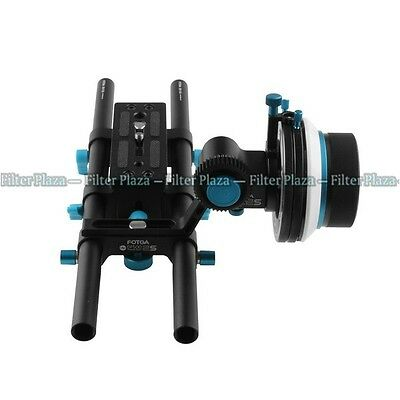 FOTGA Rail System 15mm Rod Baseplate+ A/B Stop Follow Focus for DSLR Rig 5D2 5D3