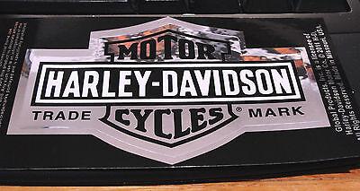 """HARLEY DAVIDSON BAR & SHIELD TRADE MARK  LOGO 4"""" x 2""""1/2 CHROME DECAL STICKER"""