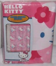 "Hello Kitty Fabric Bathroom Shower Curtain 72"" x 72"""