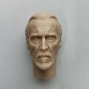 "Blank 1//12 Scale Star Wars Count Dooku Head Sculpt Unpainted Fit 6/"" ML Figure"