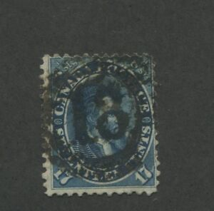 1859-Canada-Stamp-19-Used-F-VF-Full-Postal-Cancel-Jacques-Cartier