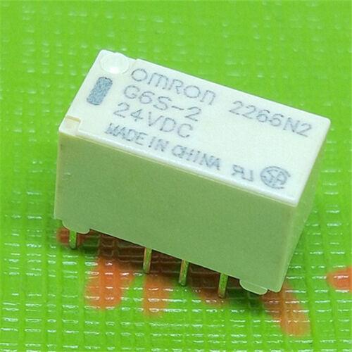 10pcs G6S-2-24VDC G6S-2-DC24 Signal Relay 2A 8 Pins