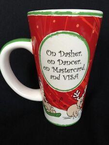 Tumbleweed Pottery Dasher Dancer Mastercard Visa Tall Christmas
