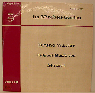 """SERENADE IM MIRABELL-GARTEN BRUNO WALTER DIRIGIERT MUSIK VON MOZART 12"""" LP f127"""