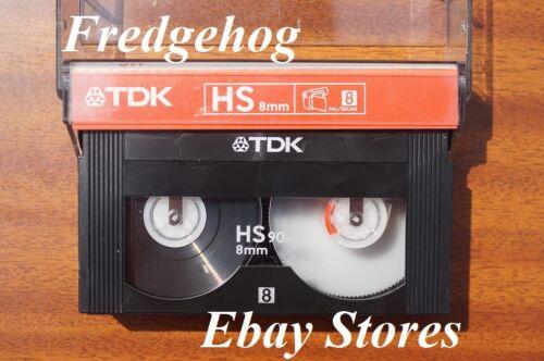 alto estándar De Calidad Superior Tdk P5-90 Hs de vídeo 8//8mm Videocámara Cinta//Cassette