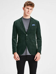 pretty cool buy best really cheap Details about Giacca Jack & Jones 12138928 Uomo Velluto Coste Costine  Blazer Verde Petrolio