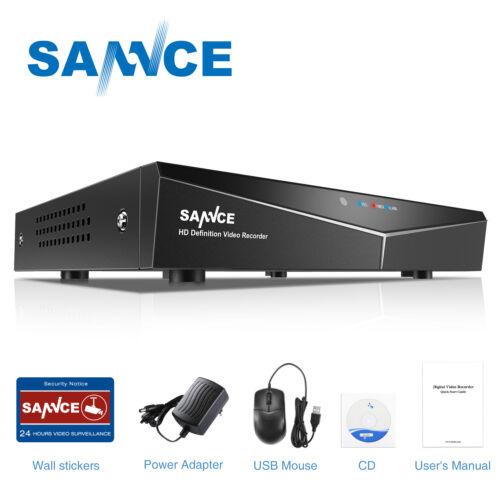 SANNCE 8CH 1080P HDMI DVR 1500TVL CCTV Security Camera System IR Night Vision 1T
