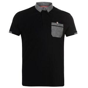 Kangol-Mens-Cham-Short-Sleeve-Polo-Shirt-Classic-Fit-Tee-Top-Lightweight-Colour