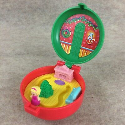Vintage 1993 Polly Pocket Bluebird Christmas Wreath McDonald's Happy Meal Toy