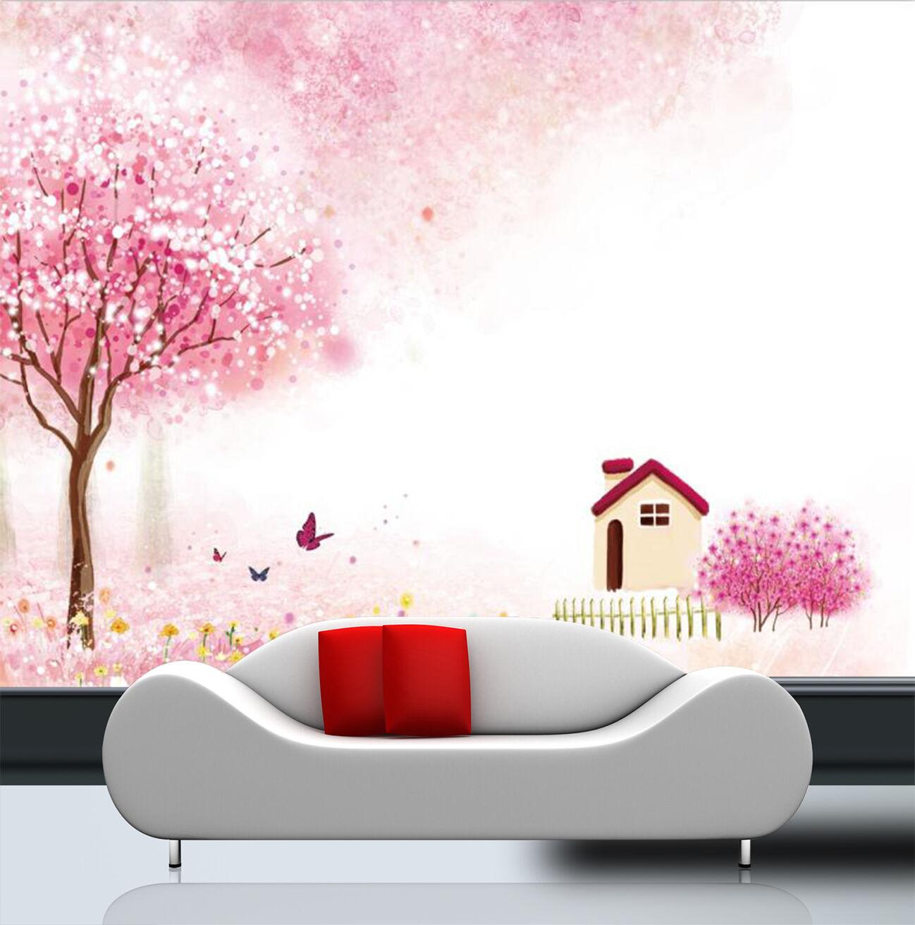 3D Schöne Baumhaus 42 Fototapeten Wandbild Fototapete Bild Tapete Familie Kinder