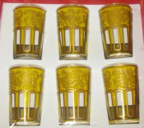 Moroccan Tea Glasses Moroccan Tea Cups Set of 6 Moroccan mint tea tea glasses