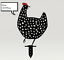 Indexbild 6 - Chicken Yard Art Garden Metal Statue Decor 2021