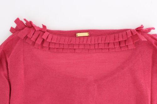 NWT $280 JOHN GALLIANO Pink  Wool Cardigan Jumper Sweater Knit Knitted L// US 10