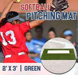 3Feet X 7Feet Softball Pitching Mat Baseball Training Aid With Mound Clay