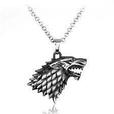 Halskette Kette mit Anhänger Game of Thrones  Wolf Winter is coming stark