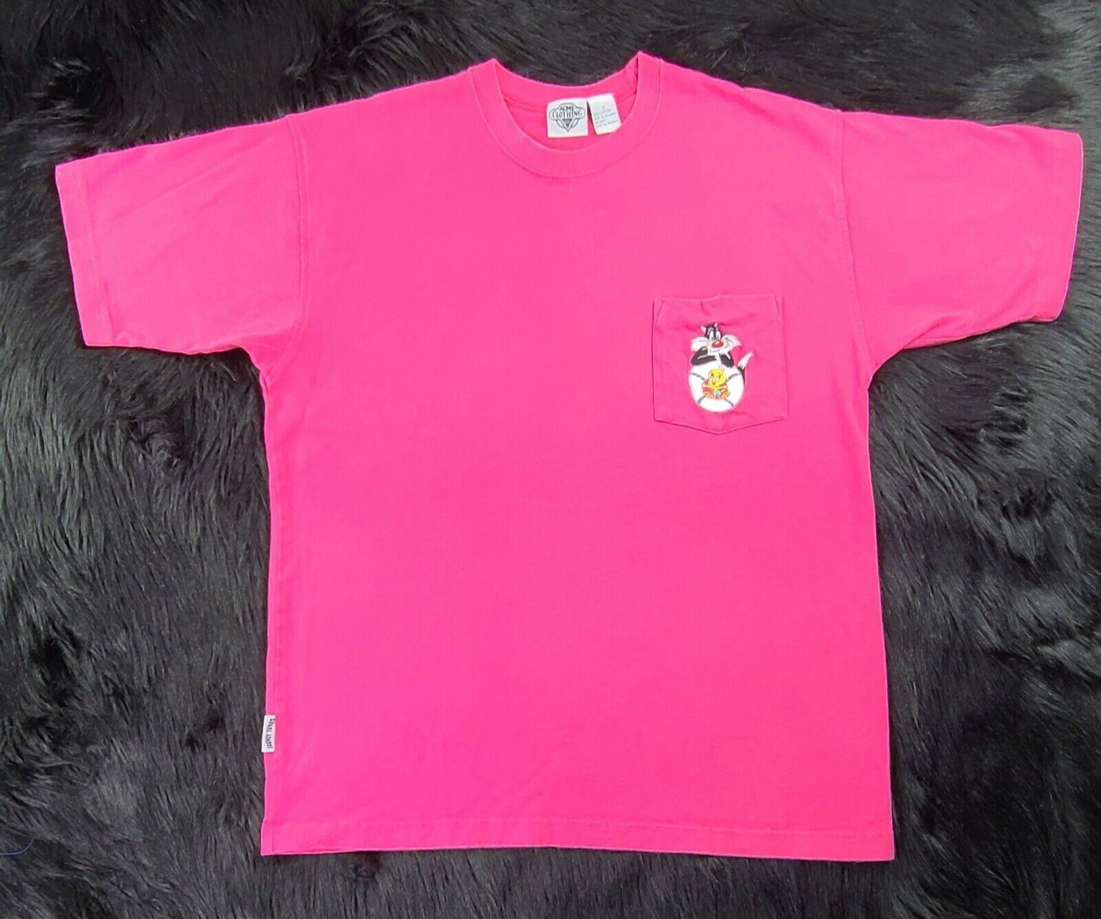 1990 Acme Clothing Co (L) Looney Tunes Tweety Bird/Sylvester T Shirt