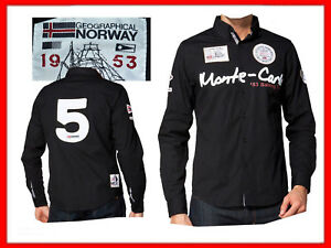 GEOGRAPHICAL-NORWAY-Camicie-Uomo-Taglia-S-GN01-N1P