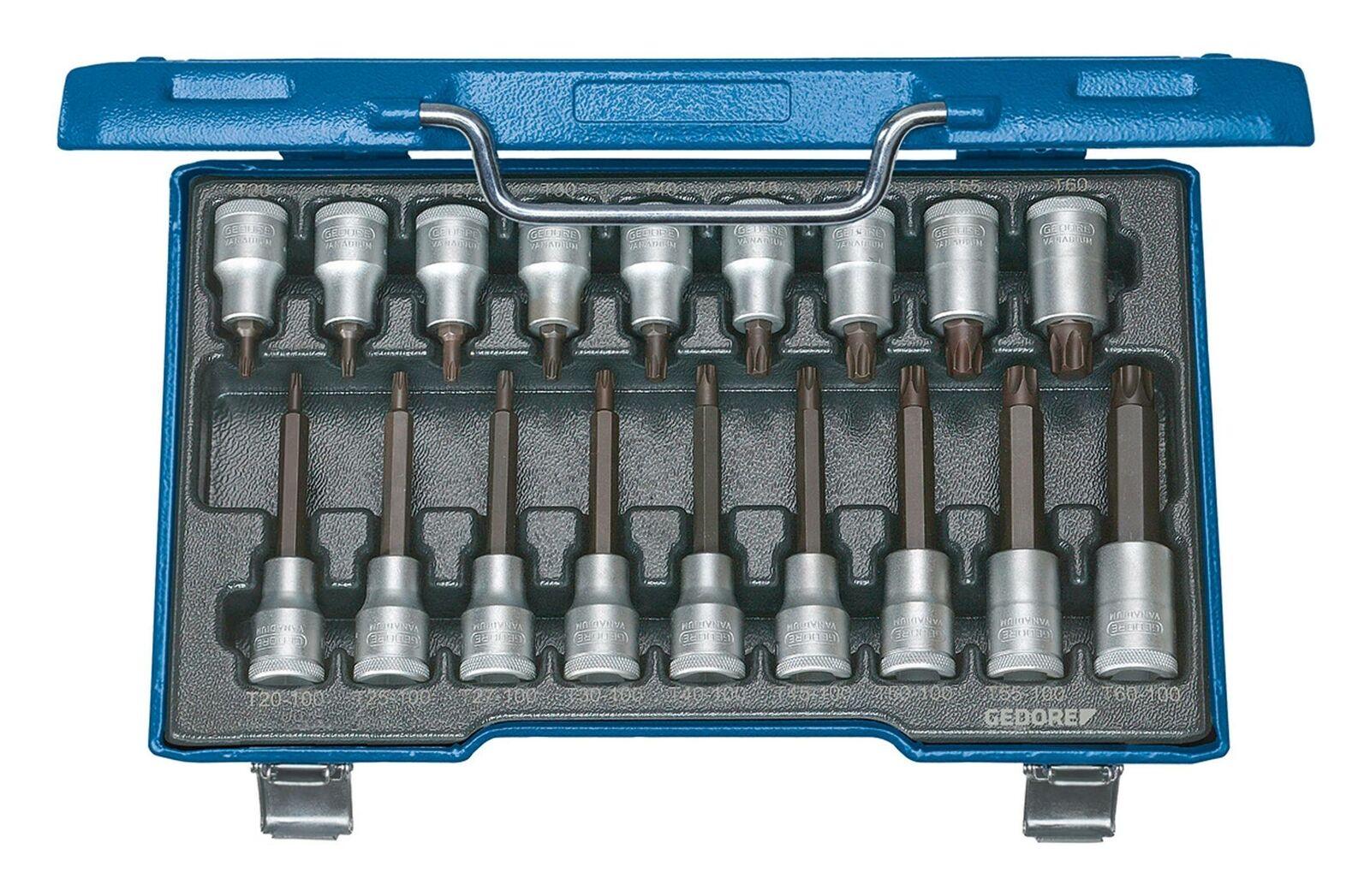 Gedore Schraubendreher Einsatz Garnitur 1 2  18tlg. T20 - T60 - 6138510