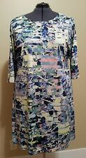WOMAN'S BLURRED LINES SHIFT DRESS BY TRISTE PLUS SIZE 3X