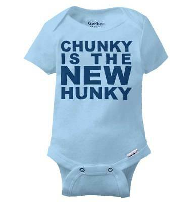 Chunky Is The New Hunky Funny Handsome Gift Infant Gerber Onesie For Baby Boys
