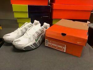 Mens Nike Shox Turbo III Mesh Premium Sneakers New White   Green ... 87abc7d38