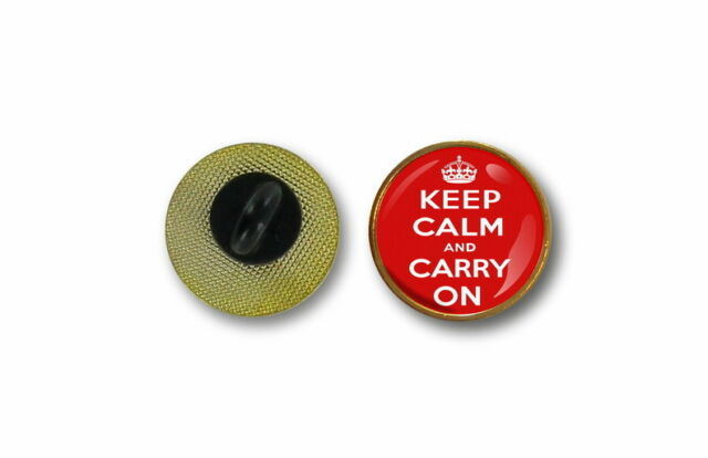 pins pin's flag badge metal lapel hat button keep calm and carry on biker