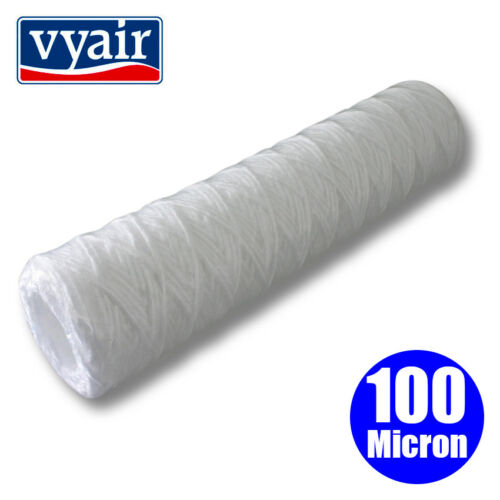 """Vyair 10/"""" Cuerdas herida PP hilo Sedimento Filtro para aceite vegetal 100 µ"""