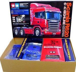 Tamiya-56327-1-14-RC-Scania-R620-6x4-Highline-Tractor-Truck-Blue-Edition-Kit