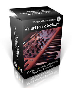 Details about Virtual Piano & Keyboard Software For Windows Vista 7, 8, 10  & Mac OS-X