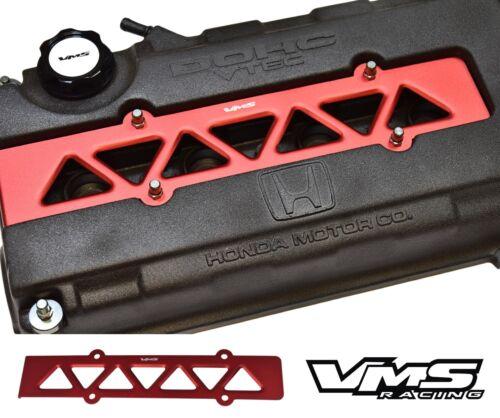 VMS RACING VALVE COVER SPARK PLUG WIRE INSERT RED 94-01 ACURA INTEGRA B18C VTEC
