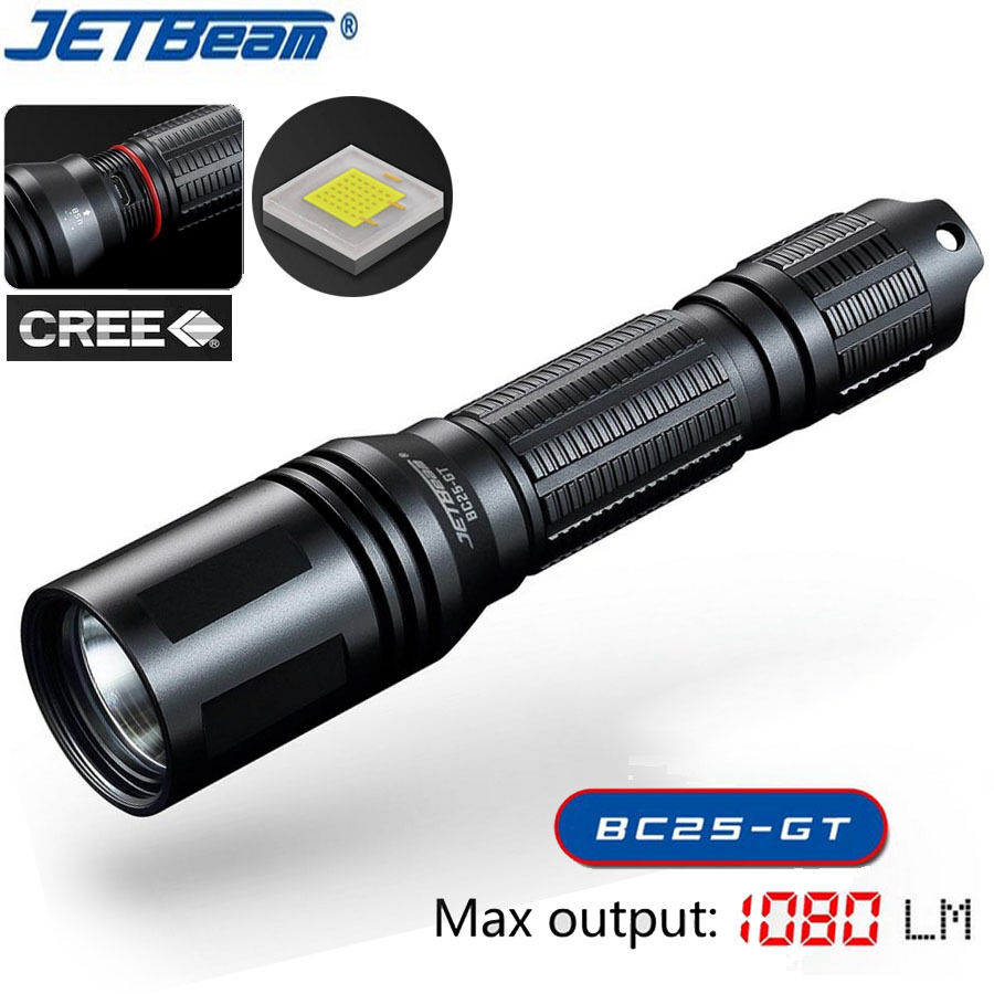 JETBEAM bc25gt RICARICABILE CREE xp-l HI LED IMPERMEABILE IPX-8 torcia torcia