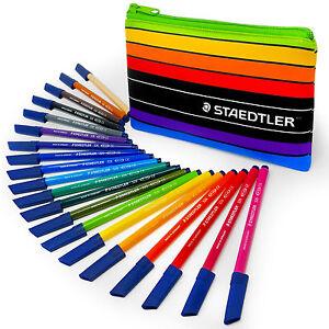 Staedtler-Noris-Club-20-X-WP20AC-Fibre-Punta-Para-Colorear-Boligrafos-Y-Estuche