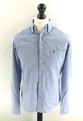 Camicia Da Uomo Fila S Small Blu Cotone- Pacchetto Elegante E Robusto