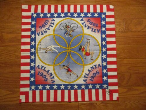 Vintage 1996 Atlanta Olympics Bandana USA Cotton B