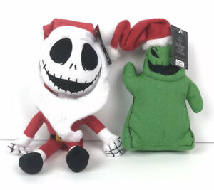 Lot Of 2 Nightmare Before Christmas Mini Plush Jack Skellington /& Oogie Boogie